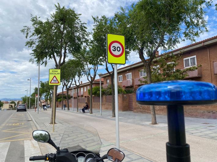Instaurada la velocitat màxima de 30 km/h a tot el municipi
