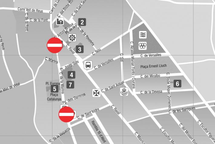 Del 4 al 8 d'octubre: Tall de circulació al carrer Marina