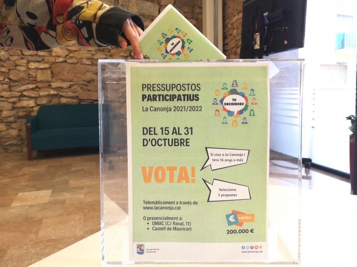 Aquest divendres ja es podrà votar el destí dels 200.000 euros dels Pressupostos Participatius